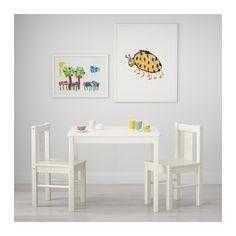KRITTER Children's table, white 23 1/4x19 5/8