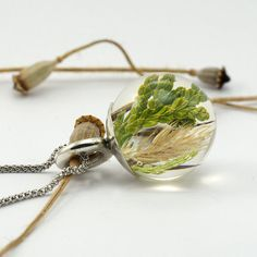 Nature Necklace Silver and Resin Jewellery Silver and by sisicata