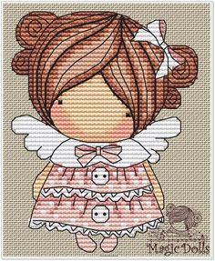 Easy Cross Stitch Patterns, Dmc Cross Stitch, Simple Cross Stitch, Cross Stitch Designs, Elmo, Everything Cross Stitch, Stitch Doll, French Knots, Needlepoint Patterns