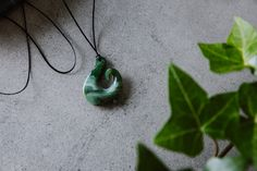 Find the perfect jade, greenstone, pounamu necklace, that speaks to you. Browse our entire range of pounamu pendants in one place; Jade Necklace, Pendant Necklace, Maori Designs, Fish Hook, Mj, Design Inspiration, Pendants, Necklaces, Jewelry