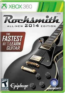 Rocksmith 2014 Edition for Xbox 360. This is one of the biggest things Aidan has done to learn guitar. It uses a real guitar for the game.