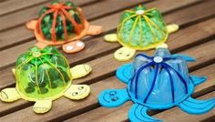 DIY; Turtle Up! With Fantastic Plastic Bottle Recycle, Pet Bottle Bottom and Cardstock. :-D