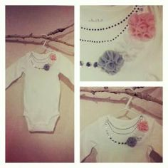 Felt Flower Onsie $8.00 Buy and Sell Crafts On Line | Handmade Crafts to Sell? Free Posting