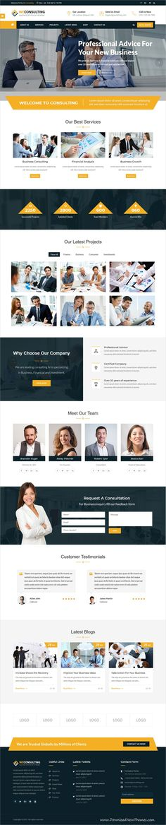 Weconsulting is clean and modern design 4in1 responsive #bootstrap HTML #template for #financial business and #consulting services website to live preview & download click on Visit