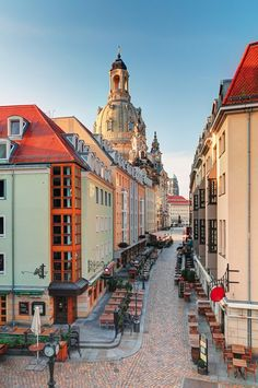 Dresden offers the perfect mix of grand Baroque architecture, history and trendy bars and cafés. Here are the city's coolest neighbourhoods Mykonos, Santorini, Visit Germany, Germany Travel, Beautiful Villas, Beautiful Places, Amazing Places, Baroque Architecture, Beautiful Architecture