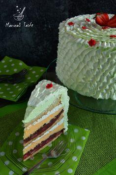 Kapri torta Baking Recipes, Cake Recipes, Torta Recipe, Torte Recepti, Bread Dough Recipe, Torte Cake, Desert Recipes, No Bake Cake, Vanilla Cake