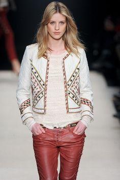 Isabel Marant Fall winter jacket and shirt Boho Fashion, Girl Fashion, Fashion Outfits, Womens Fashion, Fashion Trends, Mode Boho, Style Casual, Estilo Boho, Embroidered Jacket