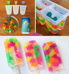 Funny pictures about Make Gummy Bear Popsicles The Easy Way. Oh, and cool pics about Make Gummy Bear Popsicles The Easy Way. Also, Make Gummy Bear Popsicles The Easy Way photos. Gummy Bear Popsicles, Making Gummy Bears, Snacks Für Party, Fruit Snacks, Kid Snacks, Pool Party Foods, Summer Party Foods, Pool Party Crafts, Fruit Gushers
