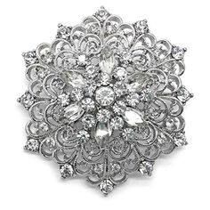 Attractive Crystal Snowflake Brooch Rhodium Plated Made In Ireland.More Inu2026 | Women  Jewelry   Brooches U0026 Pins | Pinterest | Brooches, Brooch Pin And Crystals