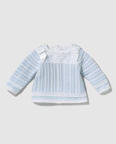 Jersey azul horizontal Newborn Girl Outfits, Cute Baby Girl Outfits, Color Topo, Matalan, Debenhams, Moda Online, Cute Babies, Knitwear, Comfy