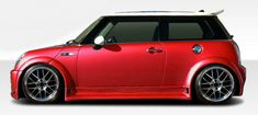 Mini Cooper Duraflex Type Z Wide Body Fender Flares - 6 Piece Note: must be used in conjunction with complete wide body kit Maserati, Bugatti, Ferrari, Mini Cooper Custom, 2006 Mini Cooper, Cool Sports Cars, Cool Cars, Sport Cars, Mini Coper