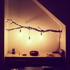 DIY Tree-Floor Lamp