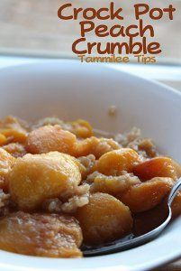 Slow Cooked Peach Crumble