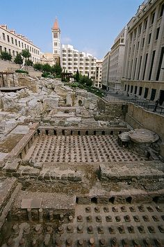 Roman baths, downtown Beirut, Lebanon
