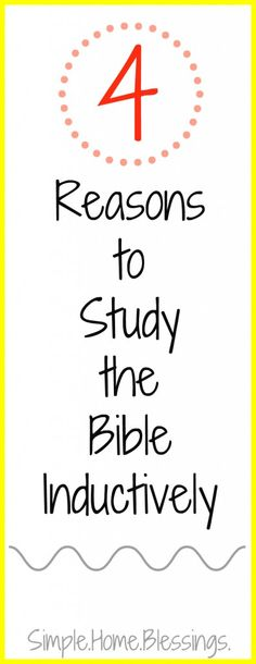 Have you heard of Inductive Bible study, but you have heard it is TOO HARD? Here are 5 reasons to study the Bible inductively that may change your mind. Bible Study For Kids, Bible Study Tips, Bible Lessons, Bible Studies For Beginners, Bible Verses About Love, Get Closer To God, Study Methods, Memory Verse