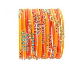 Ethnic Glass Indian Bangles Belly Dance Bracelets Red Orange Yellow... (£6.73) ❤ liked on Polyvore featuring jewelry, bracelets, accessories, orange, yellow jewelry, hinged bangle, belly dance jewelry, indian glass bangles and indian jewellery