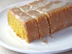 The Gluten Free Spouse: Gluten Free Lemon Loaf Cake with Lemon Glaze Gluten Free Coffee Cake, Gluten Free Sweets, Gluten Free Cakes, Gluten Free Baking, Dairy Free Recipes, Gf Recipes, Foods With Gluten, Sans Gluten, Lemon Loaf Cake
