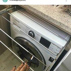 📣😮Olha isso vizinhos 😱 preciso urgente de um desses❣️ Marquem seus amigos que precisam desse varal embutido 💖 Para quem mora em apartamento, que tudo deve ser planejado nos mínimos detalhes. Repost @meuape_305 ótima ideia vizinha 👏😍 vou copiar 😂😘💞 #ideias #dicas #apartamentopequeno #apartamento #repost #varalembutido #varal #varalplanejado #temquerespeitar#lavanderia #areadeservico #areadeserviço Scullery Ideas, Drying Room, Diy Shoe Rack, Smart Kitchen, Laundry Room Design, Little Houses, Washing Machine, Home Goods, Sweet Home