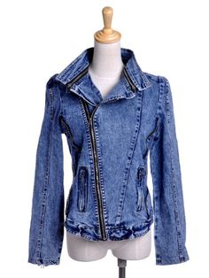 Anna-Kaci S/M Fit Blue Denim Bold and Edgy Motorcycle « Impulse Clothes