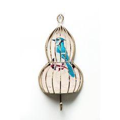 ROMANTIC WARDROBE BIRD coat rack birdscage coat hook wallhook antique