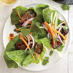 Spicy Steak Lettuce Wraps | MyRecipes.com