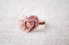 Wire ring heart ring engagement ring by JD4dreamer on Etsy, $17.00