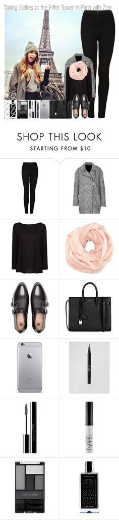 """Taking Selfies at the Eiffel Tower in Paris with Zoe"" by elise-22 ❤ liked on Polyvore featuring Topshop, MANGO, H&M, Pull&Bear, Yves Saint Laurent, Stila, shu uemura, NARS Cosmetics, Wet n Wild and Agonist"