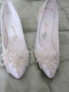 VIntage Bridal Shoes with sequins by retroemporium on Etsy, $42.00