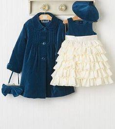 NWT Janie & Jack LAVISH AND LUXE Outfit Dress Coat Hat 6 12 M #JanieandJack #DressyHolidayPageant
