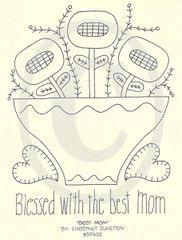 Best Mom Embroidery ePattern