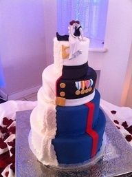 When we renew vows or have a big anniversary party, this cake will be made.(I will change it a bit to reflect me too)