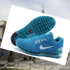 Venta 2015 Espa a Zapatillas de deporte de Entrenamiento para hombre Nike Air Max 2013 Excellerate 2 de pavo real Azul Blanco CeTuA