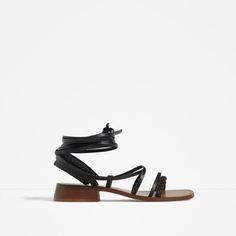 ZARA - WOMAN - WOOD AND LEATHER SANDALS