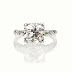 New York, NY Jewelry, engagement rings - Leigh Jay Nacht - Circa 1930s Engagement Ring - VR140707-10