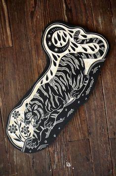 58 New Concepts tatto - Best x Pin Tattoo Photo Jaguar Tattoo, Tiger Tattoo, Arte Popular, Linolium, Woodcut Tattoo, Stamp Carving, Get A Tattoo, Tattoo Shop, Hp Tattoo