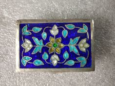 Items similar to Antique Enamel Pill Box - Silver Minakari Pill Box - 1980 Vintage and Handmade Silver Pill Box - Rectangular Shape Pill Box - Indian Silver on Etsy Jewelry Box, Unique Jewelry, Pill Boxes, Handmade Silver, Art Forms, Enamel, Etsy Shop, Shapes, Indian