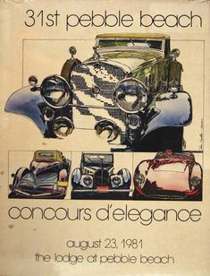 Pebble Beach Concours dElegance 1981 poster