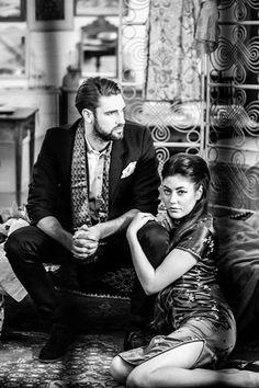 Photographer Joe Black Photography, Milda Kapaciunaite  Stylist Fabulous Miss K  air & MUA Missy Vintage  Models Nakita Harden, Jake Watson  Clothes/location Aladdin's Cave