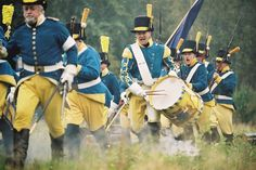 1700's Swedish-Finnish soldiers. Historical Society of Oravais, Ostrobothnia province of Western Finland.- Pohjanmaa - Österbotten