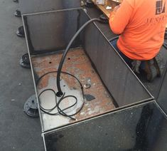 Irrigation corten steel planters