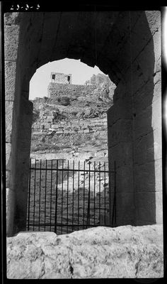 Athens. [Temple of] Nike through Odeion arch. .     Dorothy Burr Thompson    1923