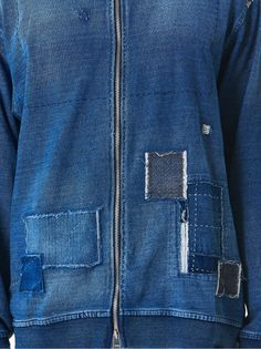KURO DENIM - Patchwork Hooded Parka - 961796-INDIGO - H. Lorenzo