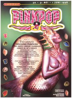 1998 | Pinkpop History Pop Posters, Music Posters, Concert Posters, The Verve, Festival Flyer, Vintage Music, Music Festivals, Illustrations And Posters, Event Posters