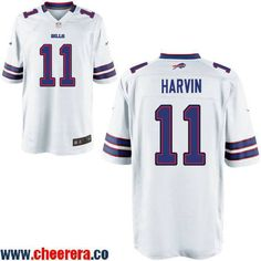 Men s Buffalo Bills  11 Percy Harvin White Road Stitched NFL Nike Elite  Jersey c3622c8bf