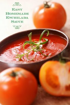 Easy Homemade Enchilada Sauce on http://www.theculinarylife.com