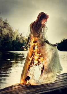 I cried out as I saw the flames devour her dress, tearing through the vision like claws through skin. Fire was everywhere. It never leaved me.