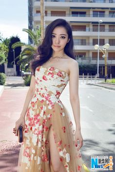 Chinese singer Jane Zhang in Cannes for Film Festival May 18, 2014