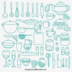cooking doodles - free graphics