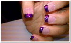 Cool-Nail-Polish-Designs-With-Purple-Glitter