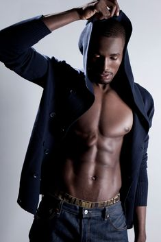 Serge Ibaka. He's a beautiful shade of brown. Geez.